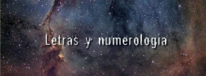 Letras y numerologia